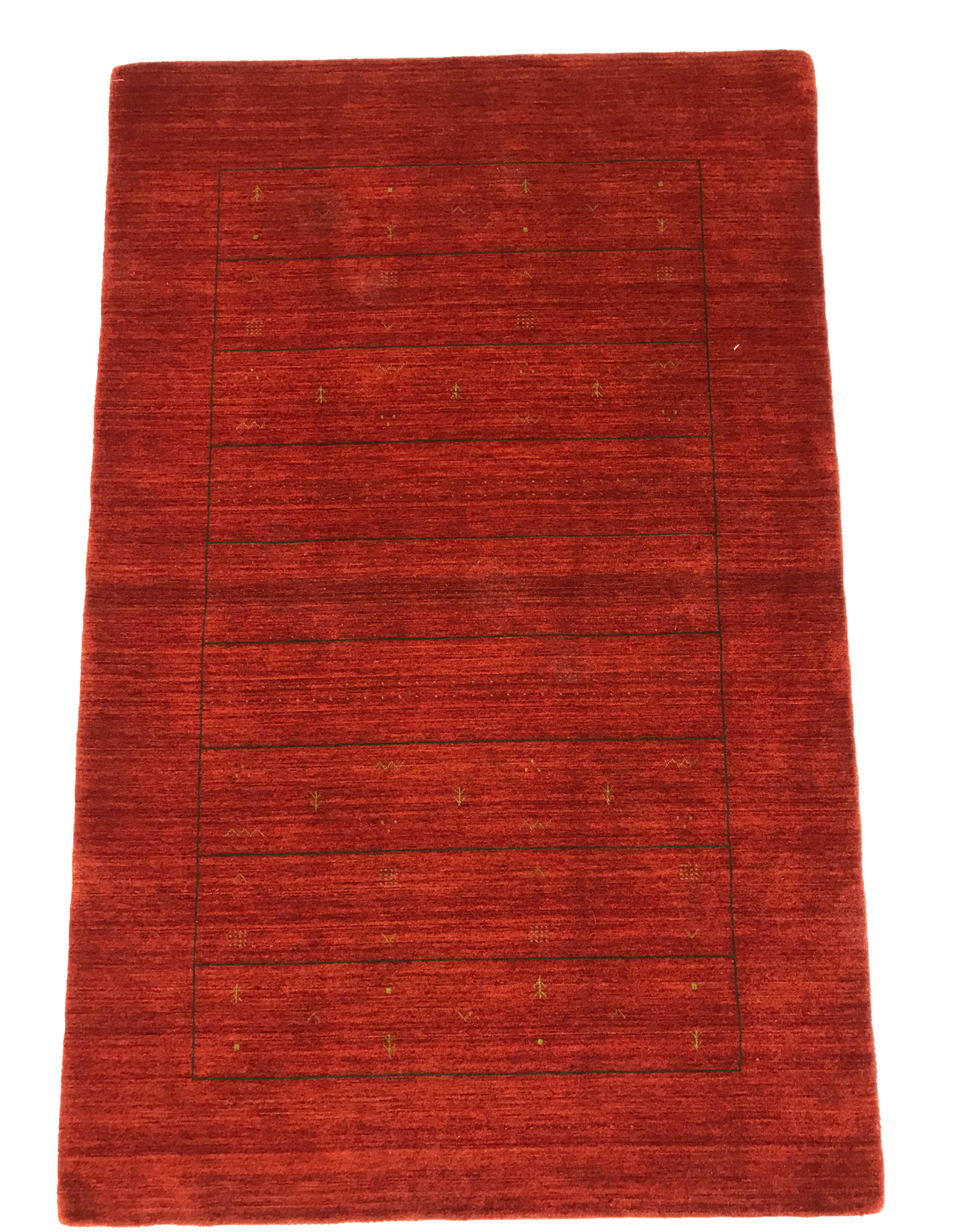 Mod 2027 100 Wool Pile Hand Knotted In Pakistan Red