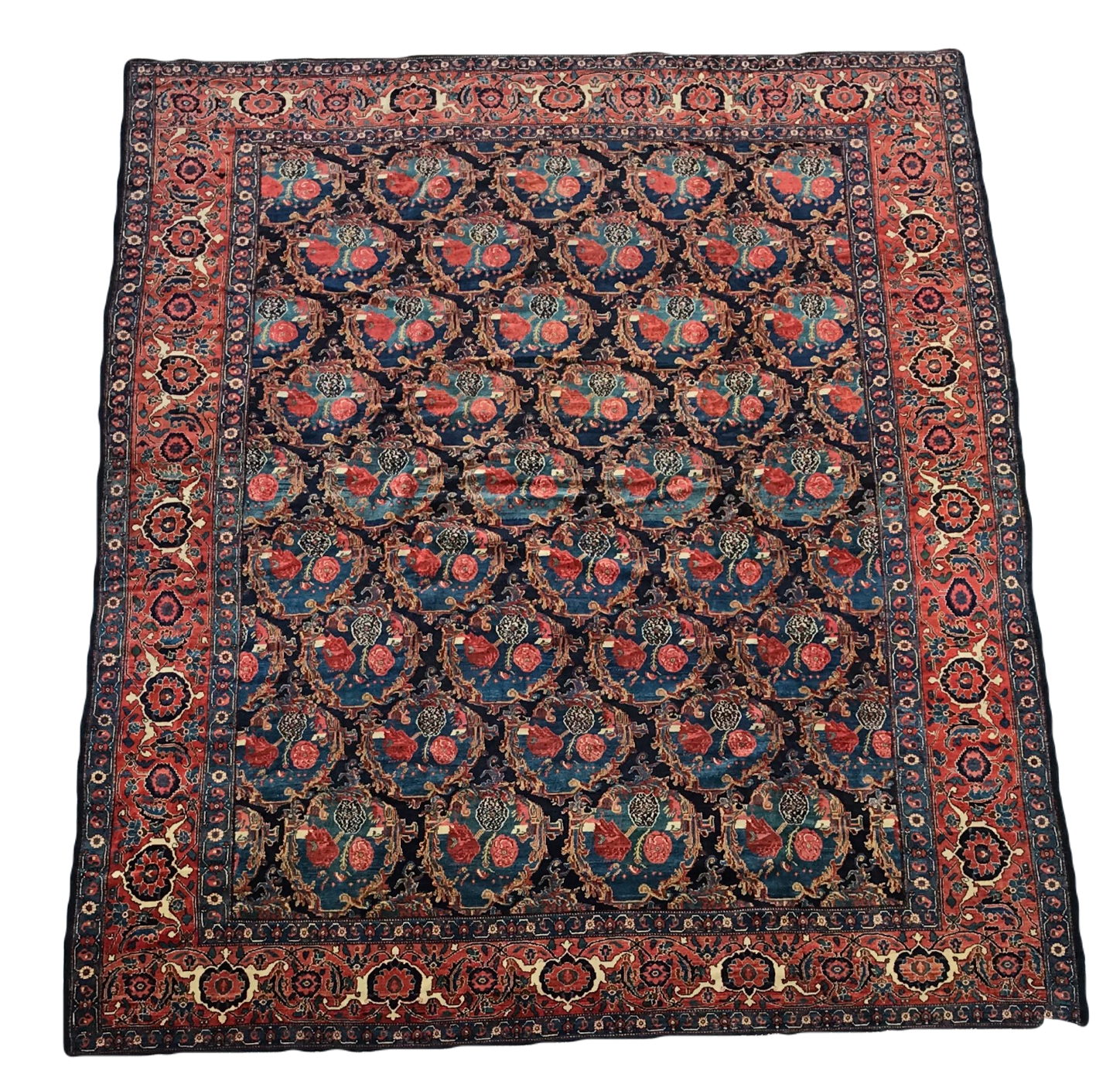 Ok2012 100 Wool Pile Hand Knotted Persian Antique Senneh